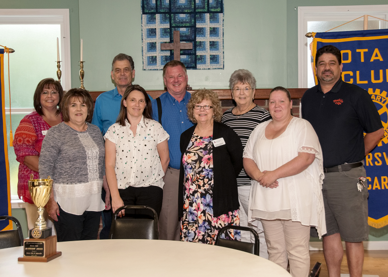 The Taylorsville Rotary Club was pleased to present a total of $3,500  on June 19th to eleven different local organizations to help with their mission.
